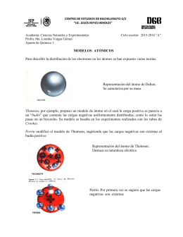 modelos atomicos - Espacio de ACADEMIA NATURALES