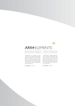 Mobiliario urbano Ark+elements, Porcelanosa, catálogo