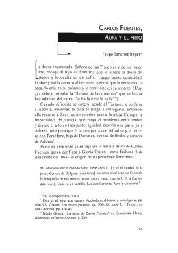 Carlos Fuentes, Aura y el mito