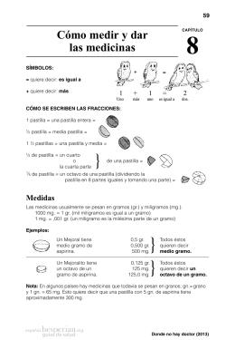 8 Cómo medir y dar las medicinas