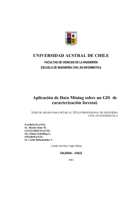 UNIVERSIDAD AUSTRAL DE CHILE Aplicación de Data Mining