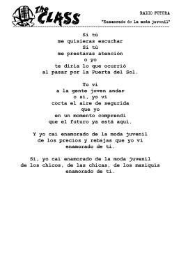 Letra PDF - The Class