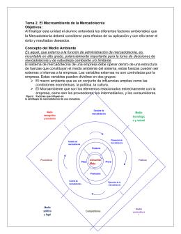 Tema 2. El Macroambiente de la Mercadotecnia