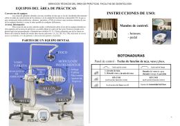 INSTRUCCIONES DE USO: - Facultad de Odontología