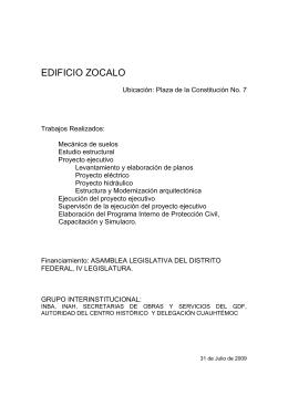 Zócalo - Asamblea Legislativa del Distrito Federal