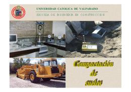 compactacion de suelos - Escuela de ingenieria en construcción