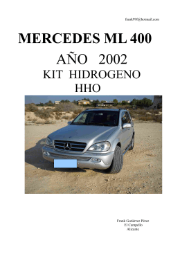 MERCEDES ML 400 AÑO 2002