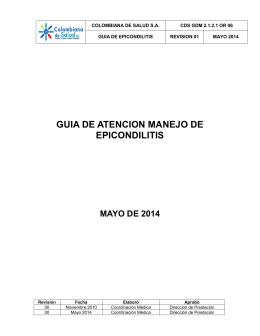 GUIA DE MANEJO EPICONDILITIS 2014