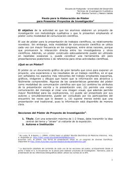 Pautas para la Elaboración de Póster para Presentar Proyectos de