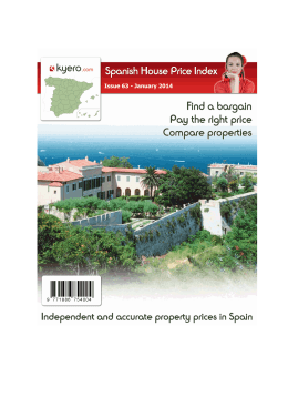 Kyero.com Spanish House Price Index