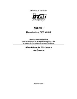 Mecánico de Sistemas de Frenos - Instituto Nacional de Educación
