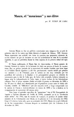 "Maura, el ""mausismo"" y sus élites"