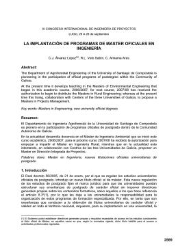 la implantación de programas de master oficiales en