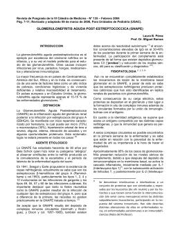 Glomérulonefritis Aguda - UNIDADES DE PEDIATRIA (USAC)