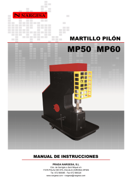 Manual de instrucciones MP60