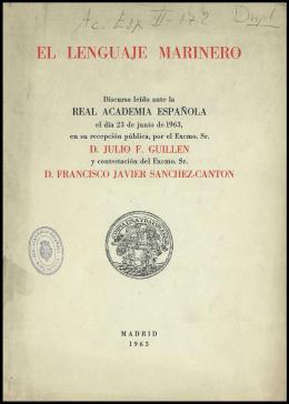 EL LENGUAJE MARINERO - Real Academia Española