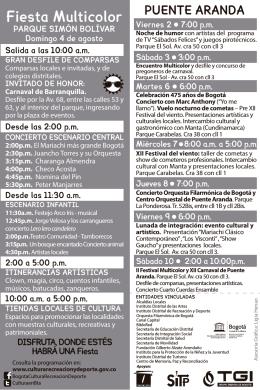 Fiesta Multicolor - Secretaría de Cultura, Recreación y Deporte