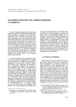 """UN PATRÓN ESTRUCTURAL DEL LABERINTO BORGEANO: """"EL"""