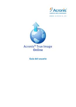 Guía del usuario de Acronis True Image Online