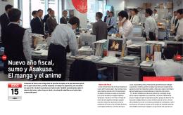 Nuevo año fiscal, sumo y Asakusa. El manga y el anime