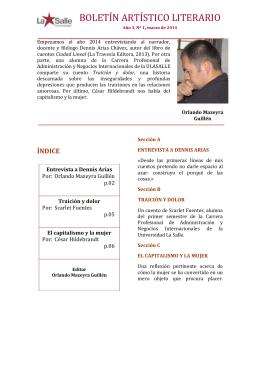 BOLETIN ARTISTICO LITERARIO MARZO 2014