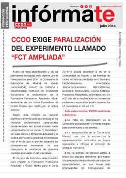 fct ampliada - Federación de Enseñanza de Madrid