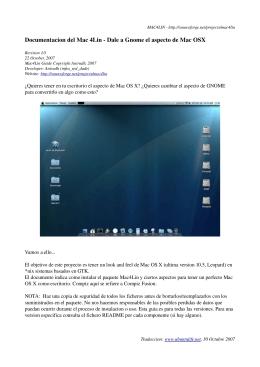 Documentacion del Mac 4Lin Dale a Gnome el aspecto de Mac OSX