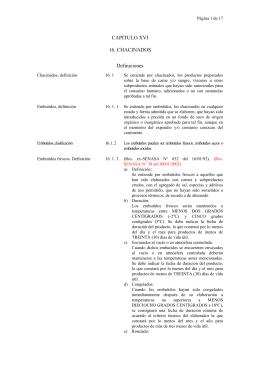 CAPITULO XVI 16. CHACINADOS Definiciones