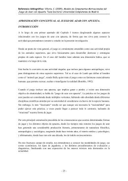 Aproximación Conceptual Al Juego De Azar Con Apuesta. Cap. 1.1