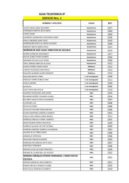GUIA TELEFONICA IP EDIFICIO Nro. 1 - PUCE-SI