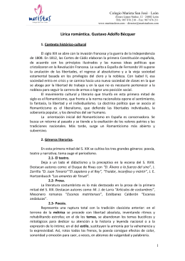 Tema 2.- Lírica Romántica. Bécquer