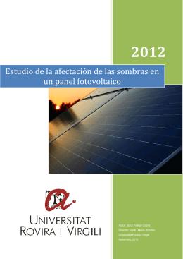 Estudio de la afectación de las sombras en un panel fotovoltaico