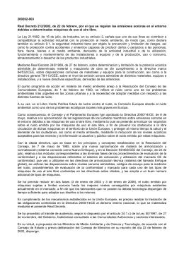 CUADRO DE VALORES LÍMITE