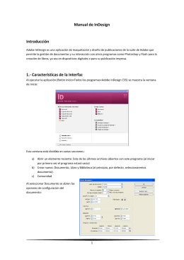Manual de InDesign Introducción 1.- Características