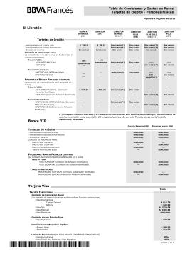 Tarjetas de Crédito - BBVA Banco Francés