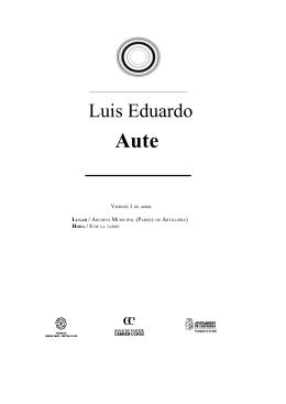 Luis Eduardo Aute - Patronato Carmen Conde