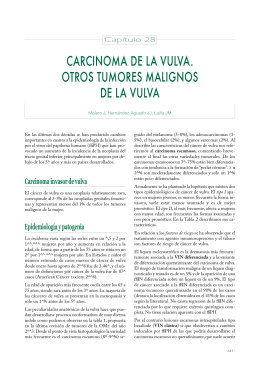 carcinoma de la vulva. otros tumores malignos de la vulva