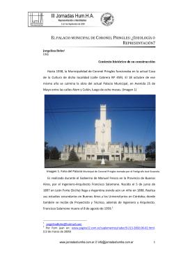 el palacio municipal de coronel pringles