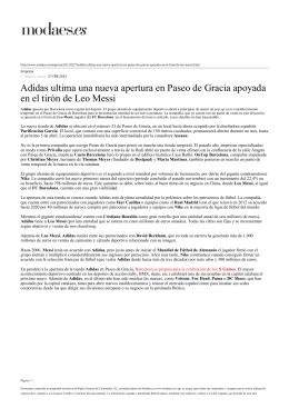 Adidas ultima una nueva apertura en Paseo de Gracia apoyada en