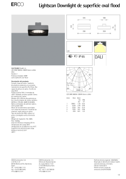 E Lightscan Downlight de superficie oval flood