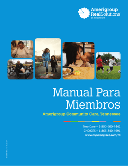 Amerigroup Community Care, Tennessee—Manual Para Miembros