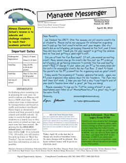 Newsletters 4-30-12