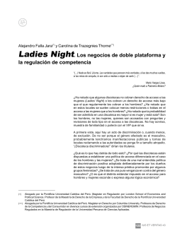 Ladies Night. Los negocios de doble plataforma y