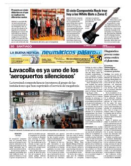 Lavacolla es ya uno de los `aeropuertos silenciosos`