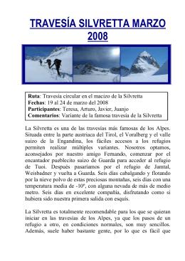 TRAVESÍA SILVRETTA MARZO 2008