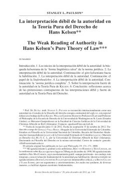 la interpretación débil de la autoridad en la teoría Pura del Derecho