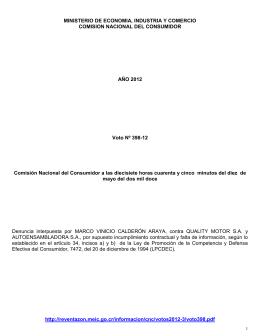 comisión nacional del consumidor
