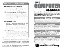 comp class catalog BW CW