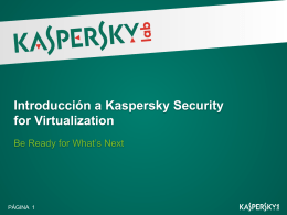 Introducción a Kaspersky Security for Virtualization