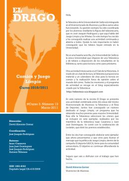 Comics y Juego Limpio - Universidad de Cádiz